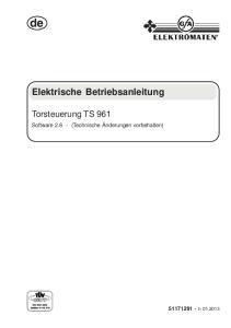 Elektrische Betriebsanleitung