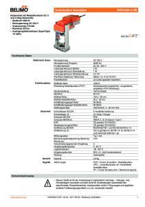 Elektrische Daten Nennspannung AC 230 V Nennspannung Frequenz