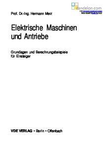 Elektrische Maschinen und Antriebe