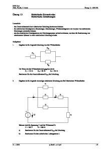 Elektrische Stromkreise Elektrische Schaltungen