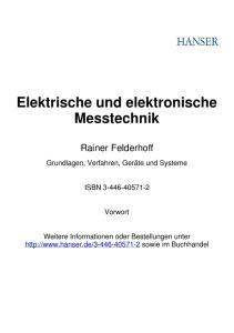 Elektrische und elektronische Messtechnik