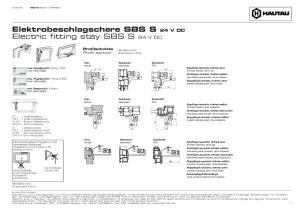Elektrobeschlagschere SBS S 24 V DC Electric fitting stay SBS S 24 V DC
