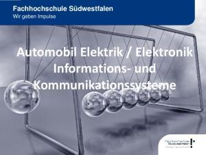 Elektronik Informations- und Kommunikationssysteme