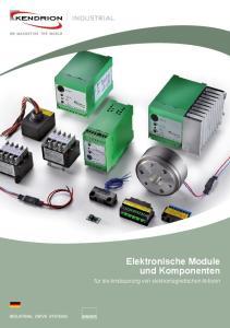 Elektronische Module und Komponenten. für die Ansteuerung von elektromagnetischen Aktoren