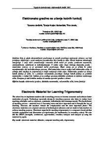 Elektronsko gradivo za uenje kotnih funkcij