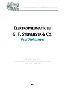 ELEKTROPNEUMATIK BEI G. F. STEINMEYER & CO