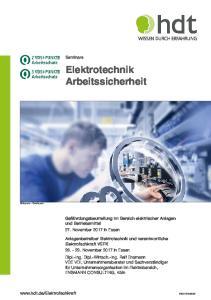 Elektrotechnik Arbeitssicherheit