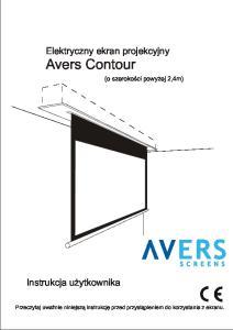 Elektryczny ekran projekcyjny Avers Contour