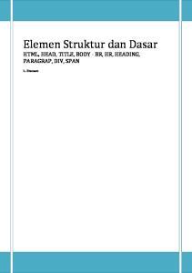Elemen Struktur dan Dasar
