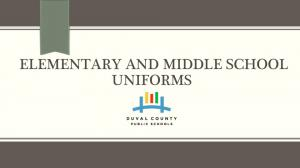 ELEMENTARY AND MIDDLE SCHOOL UNIFORMS!