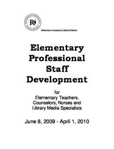 Elementary Professional Staff Development