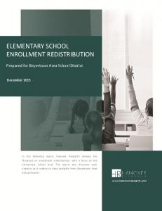 ELEMENTARY SCHOOL ENROLLMENT REDISTRIBUTION
