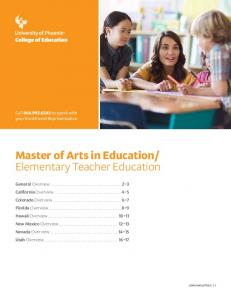 Elementary Teacher Education