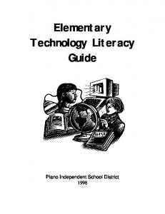Elementary Technology Literacy Guide