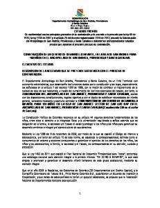ELEMENTOS DEL ESTUDIO. DESCRIPCION DE LA NECESIDAD QUE SE PRETENDE SATISFACER CON EL PROCESO DE CONTRATACION