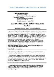 ELEMENTOS PARA LA CONECTIVIDAD DE REDES Dispositivos para conectividad