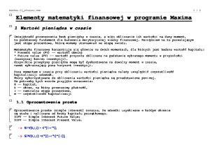 Elementy matematyki finansowej w programie Maxima