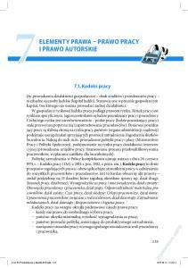 ELEMENTY PRAWA PRAWO PRACY 7I PRAWO AUTORSKIE