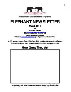 ELEPHANT NEWSLETTER March 2011 by