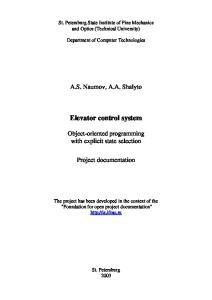 Elevator control system