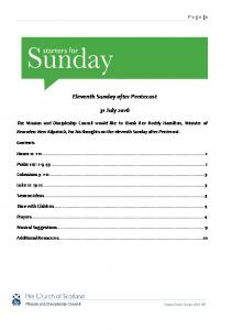Eleventh Sunday after Pentecost. 31 July 2016