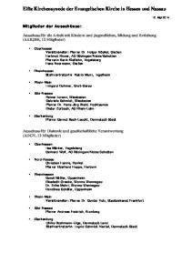 Elfte Kirchensynode der Evangelischen Kirche in Hessen und Nassau
