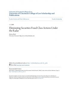 Eliminating Securities Fraud Class Actions Under the Radar