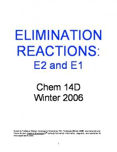 ELIMINATION REACTIONS: E2 and E1