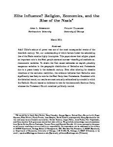 Elite Influence? Religion, Economics, and the Rise of the Nazis