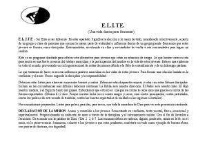E.L.I.TE. (Una vida diaria para fomentar)