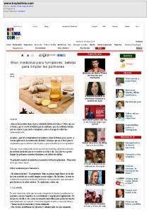 Elixir medicinal para fumadores: bebida para limpiar los pulmones
