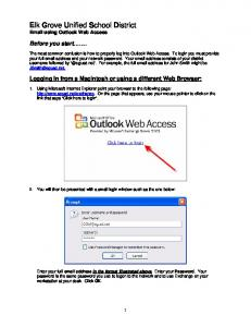 Elk Grove Unified School District  using Outlook Web Access