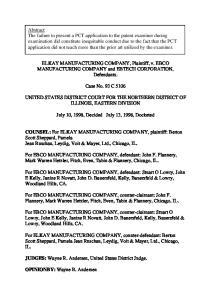 ELKAY MANUFACTURING COMPANY, Plaintiff, v. EBCO MANUFACTURING COMPANY and EBTECH CORPORATION, Defendants. Case No. 93 C 5106
