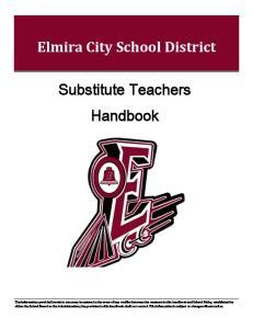 Elmira City School District. Substitute Teachers Handbook