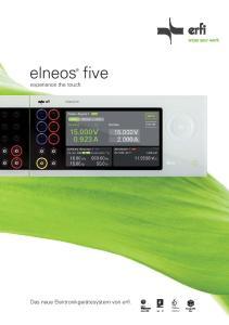 elneos five experience the touch Das neue Elektronikgerätesystem von erfi