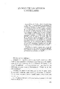 ELOGIO DE LA LENGUA CASTELLANA