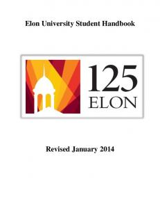 Elon University Student Handbook