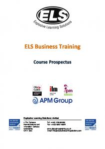 ELS Business Training