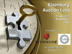 Elsenburg Auction Lots