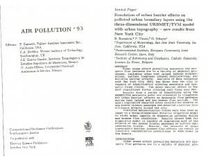 ~ELSEVIER AIR POLLUTION' 93