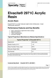 Elvacite 2971C Acrylic Resin