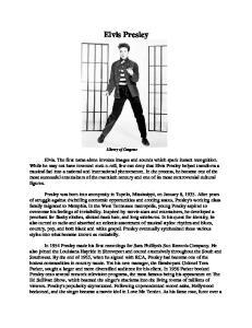 Elvis Presley. Library of Congress