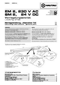 EM 2, 230 V AC SM 2, 24 V DC