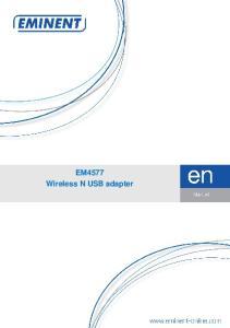 EM4577 Wireless N USB adapter
