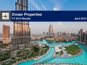 Emaar Properties. FY 2014 Results April 2015