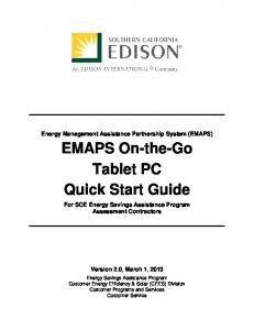 EMAPS On-the-Go Tablet PC Quick Start Guide