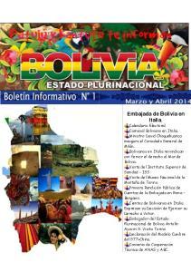 Embajada de Bolivia en Italia.!