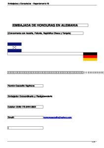 EMBAJADA DE HONDURAS EN ALEMANIA