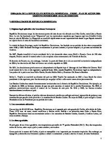 EMBAJADA DE LA REPUBLICA EN REPUBLICA DOMINICANA EDOMI PLAN DE ACCION OBJETIVO INFOGES GUIA DE NEGOCIOS-