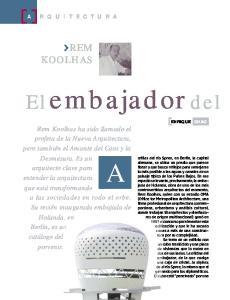 embajador del REM KOOLHAS